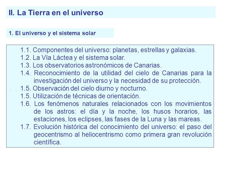 II. La Tierra en el universo