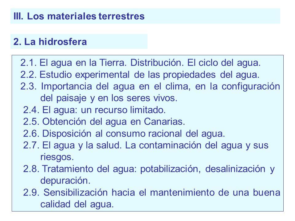 III. Los materiales terrestres