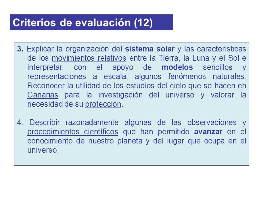 Criterios de evaluación (12)