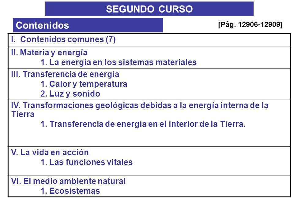 SEGUNDO CURSO Contenidos I. Contenidos comunes (7)