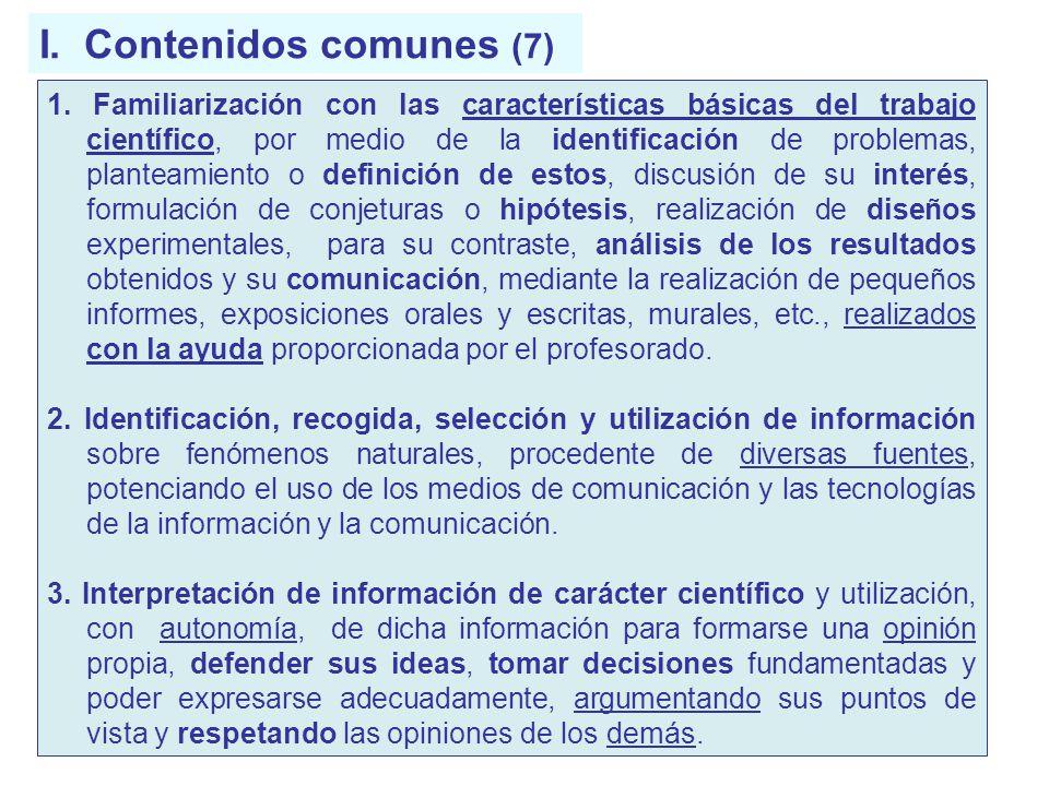 I. Contenidos comunes (7)