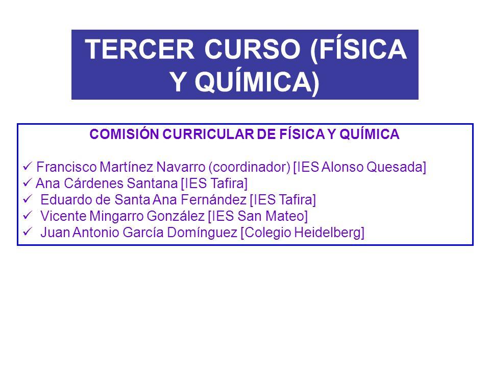 TERCER CURSO (FÍSICA Y QUÍMICA)