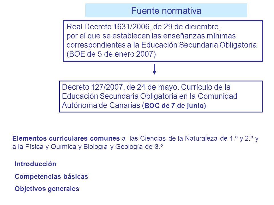 Fuente normativa Real Decreto 1631/2006, de 29 de diciembre,