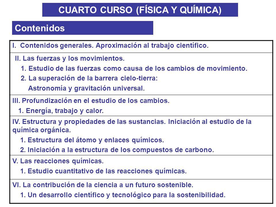 CUARTO CURSO (FÍSICA Y QUÍMICA)