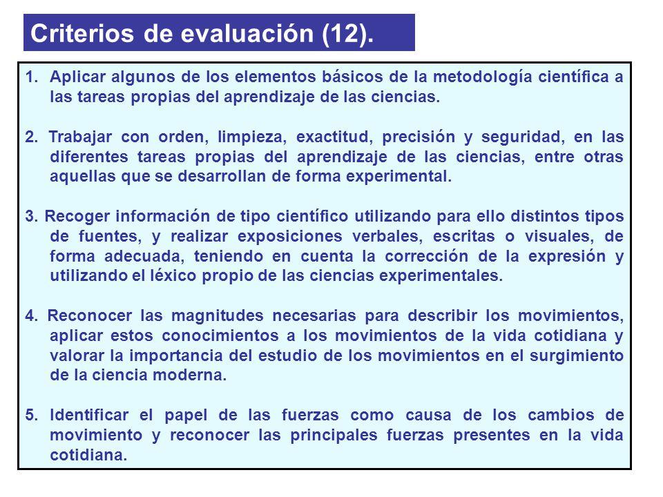 Criterios de evaluación (12).