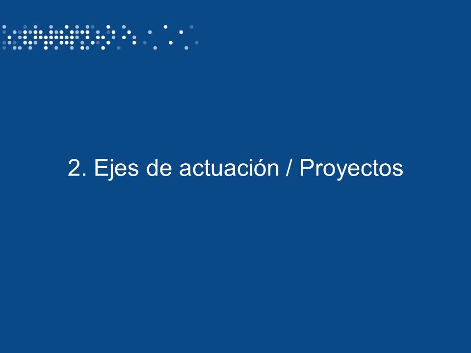 2. Ejes de actuación / Proyectos