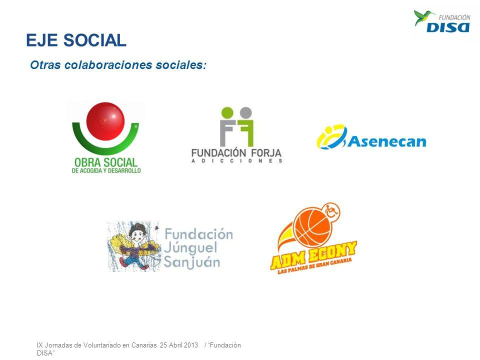 EJE SOCIAL Otras colaboraciones sociales:
