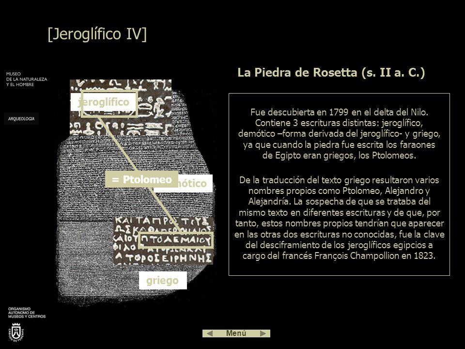 La Piedra de Rosetta (s. II a. C.)