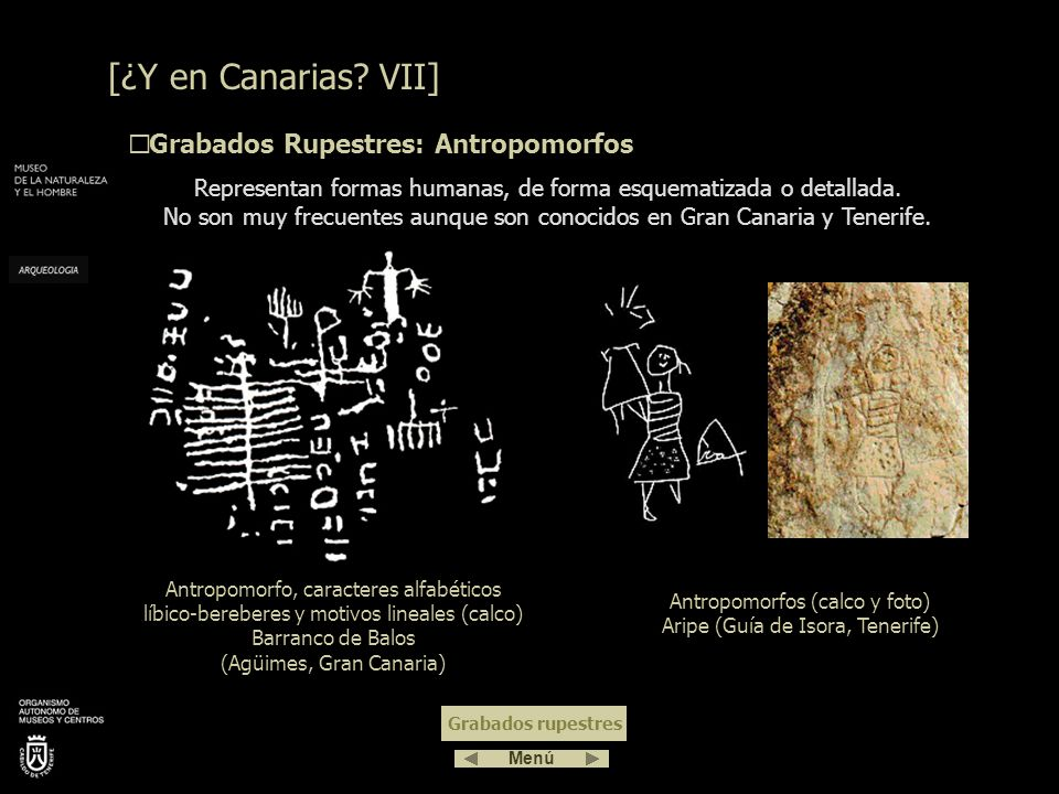 Antropomorfos (calco y foto) Aripe (Guía de Isora, Tenerife)