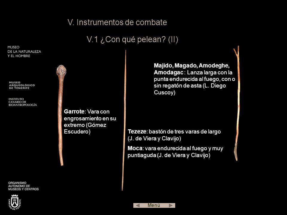 V. Instrumentos de combate V.1 ¿Con qué pelean (II)