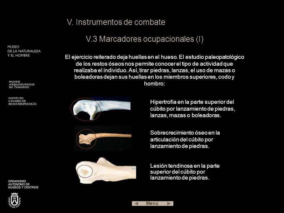 V. Instrumentos de combate V.3 Marcadores ocupacionales (I)