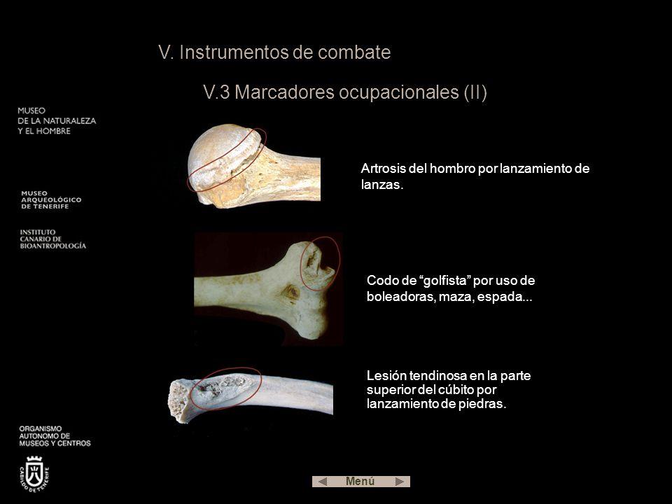 V. Instrumentos de combate V.3 Marcadores ocupacionales (II)