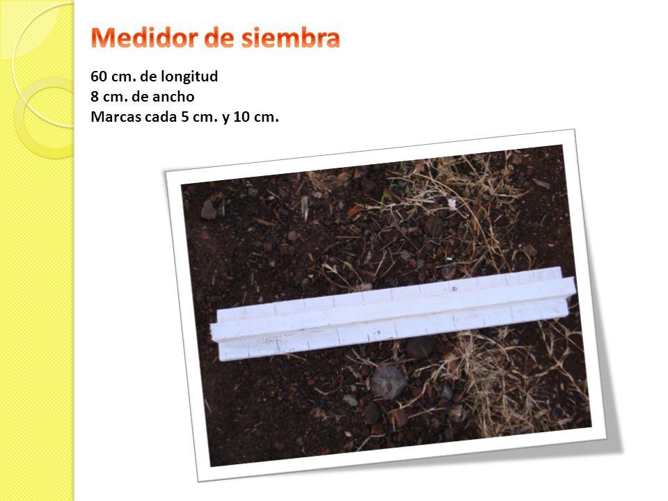 Medidor de siembra 60 cm. de longitud 8 cm. de ancho