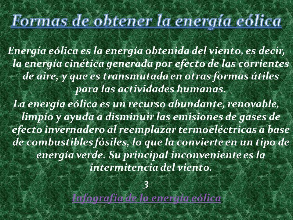 Formas de obtener la energía eólica