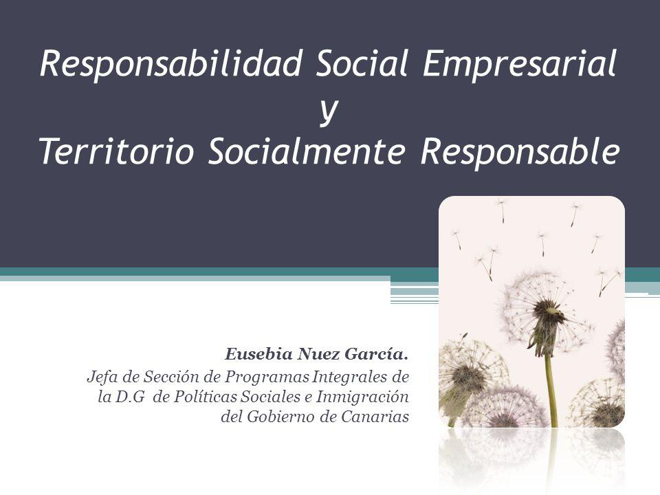 Responsabilidad Social Empresarial y Territorio Socialmente Responsable
