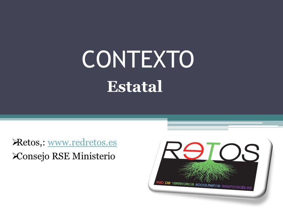 CONTEXTO Estatal Retos,: www.redretos.es Consejo RSE Ministerio
