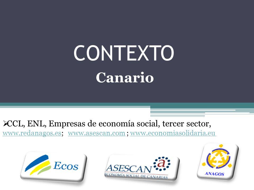 CONTEXTO Canario CCL, ENL, Empresas de economía social, tercer sector,