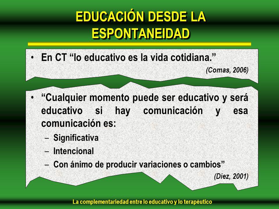 EDUCACIÓN DESDE LA ESPONTANEIDAD