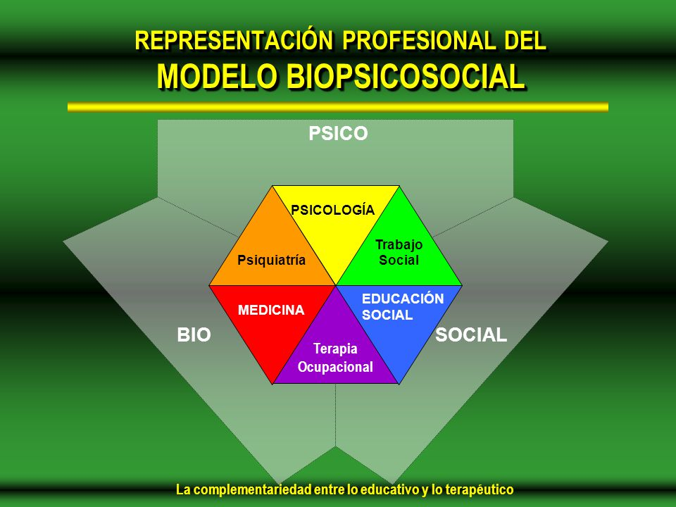 REPRESENTACIÓN PROFESIONAL DEL MODELO BIOPSICOSOCIAL