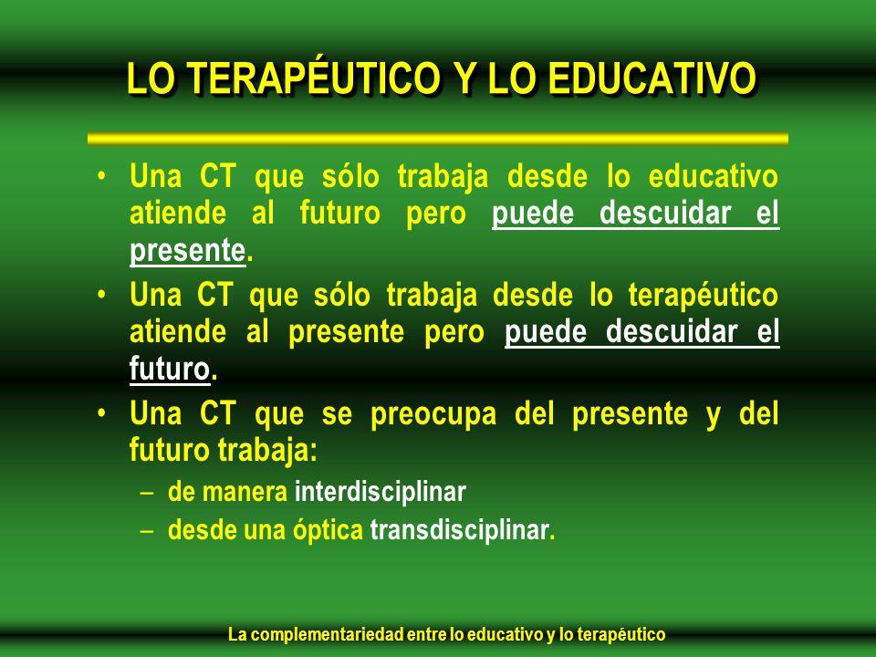 LO TERAPÉUTICO Y LO EDUCATIVO