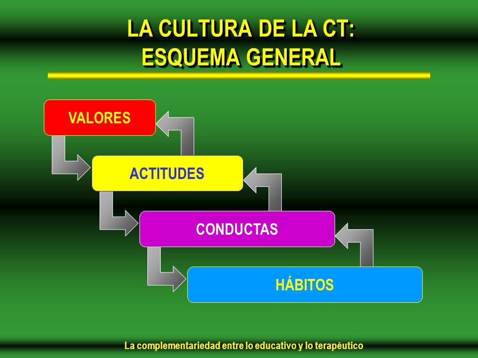 LA CULTURA DE LA CT: ESQUEMA GENERAL