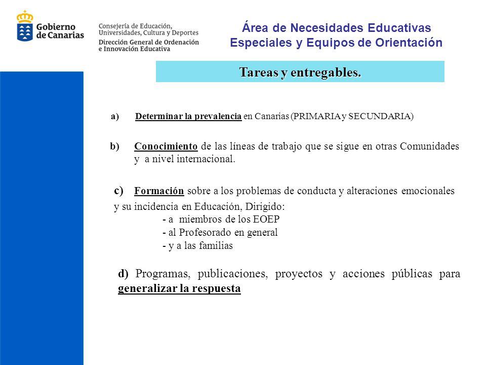 Área de Necesidades Educativas Especiales y Equipos de Orientación