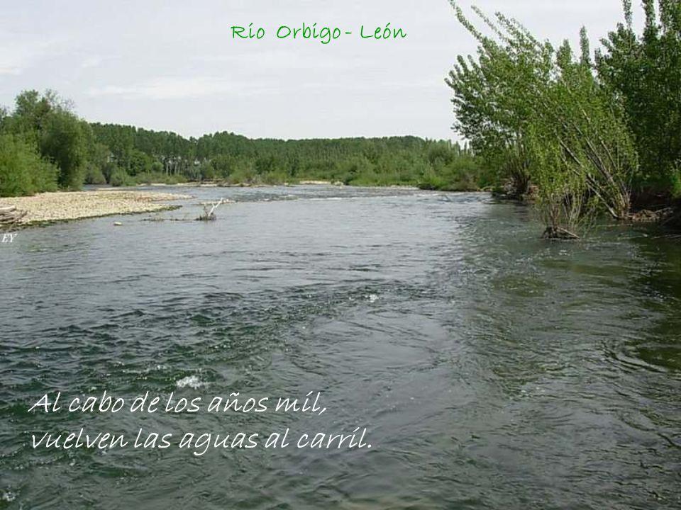 Al cabo de los años mil, vuelven las aguas al carril.