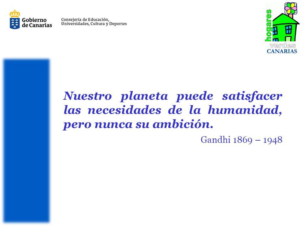 Nuestro planeta puede satisfacer las necesidades de la humanidad, pero nunca su ambición.