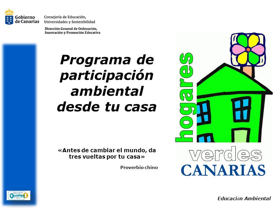 Programa de participación ambiental desde tu casa