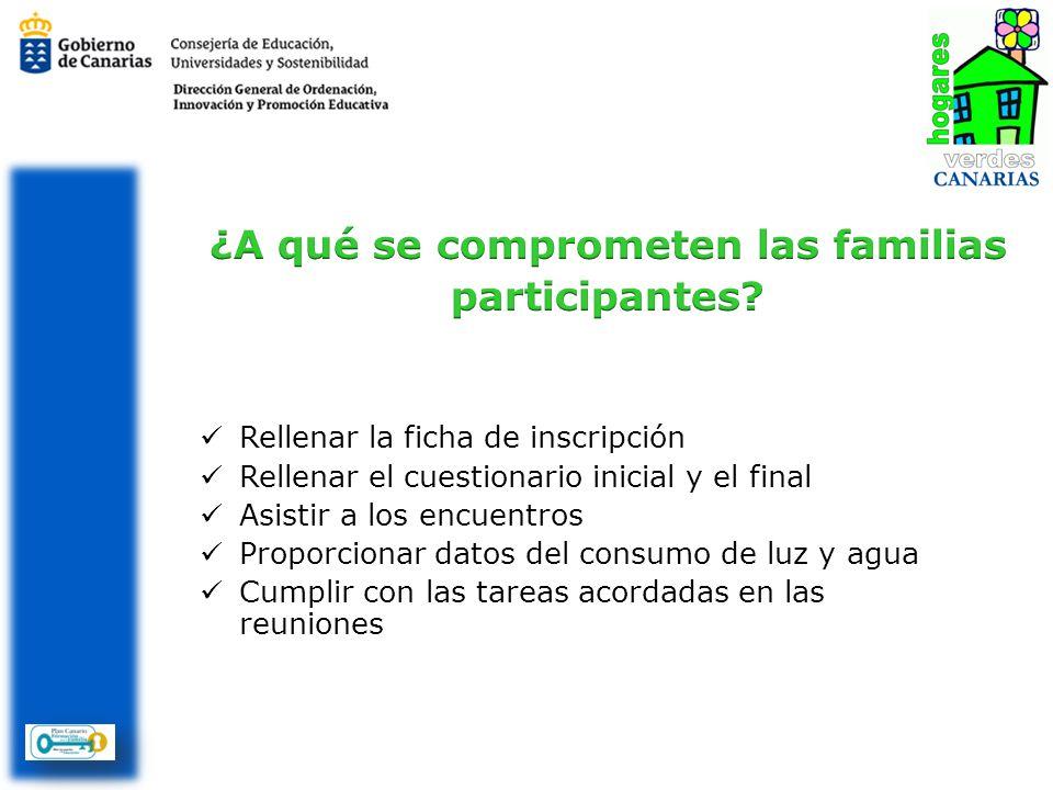 ¿A qué se comprometen las familias participantes