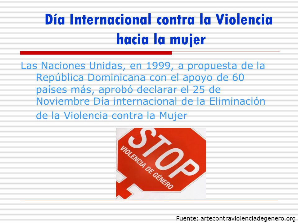 Día Internacional contra la Violencia hacia la mujer