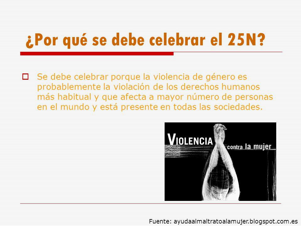¿Por qué se debe celebrar el 25N