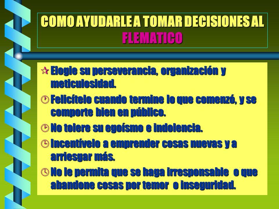 COMO AYUDARLE A TOMAR DECISIONES AL FLEMATICO