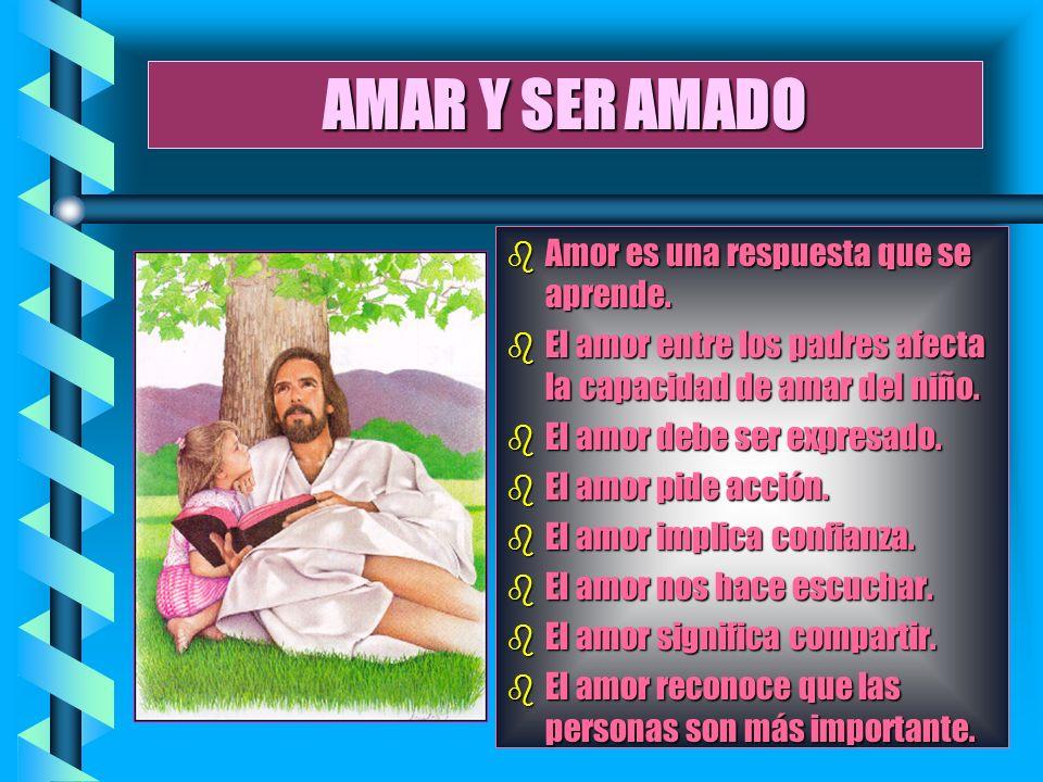 AMAR Y SER AMADO Amor es una respuesta que se aprende.