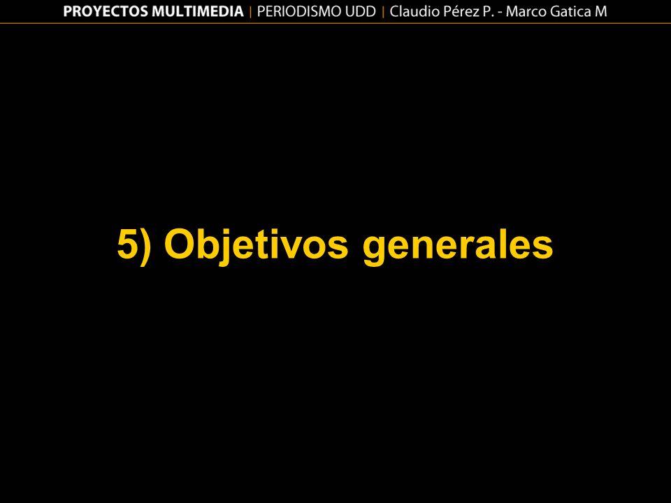 5) Objetivos generales