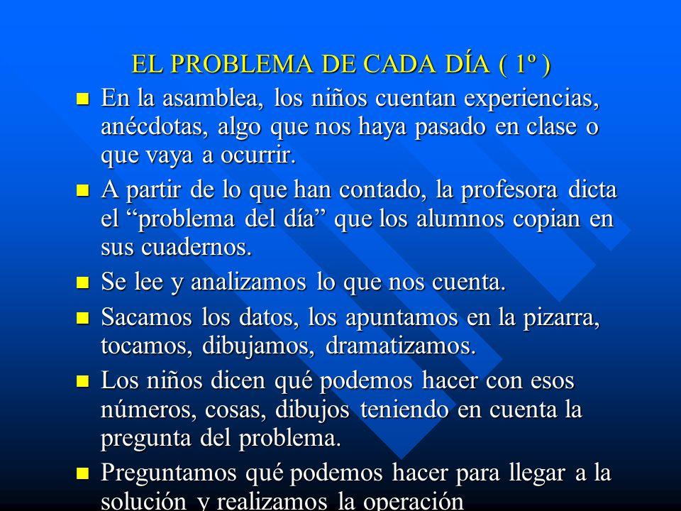 EL PROBLEMA DE CADA DÍA ( 1º )