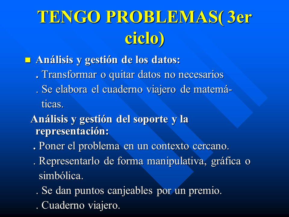 TENGO PROBLEMAS( 3er ciclo)