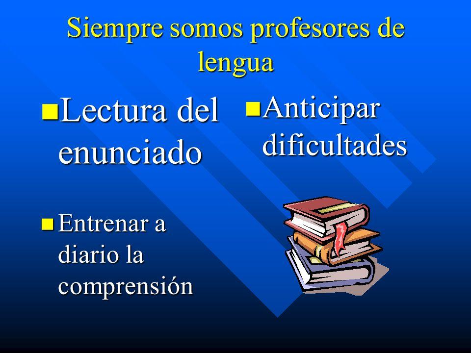 Siempre somos profesores de lengua