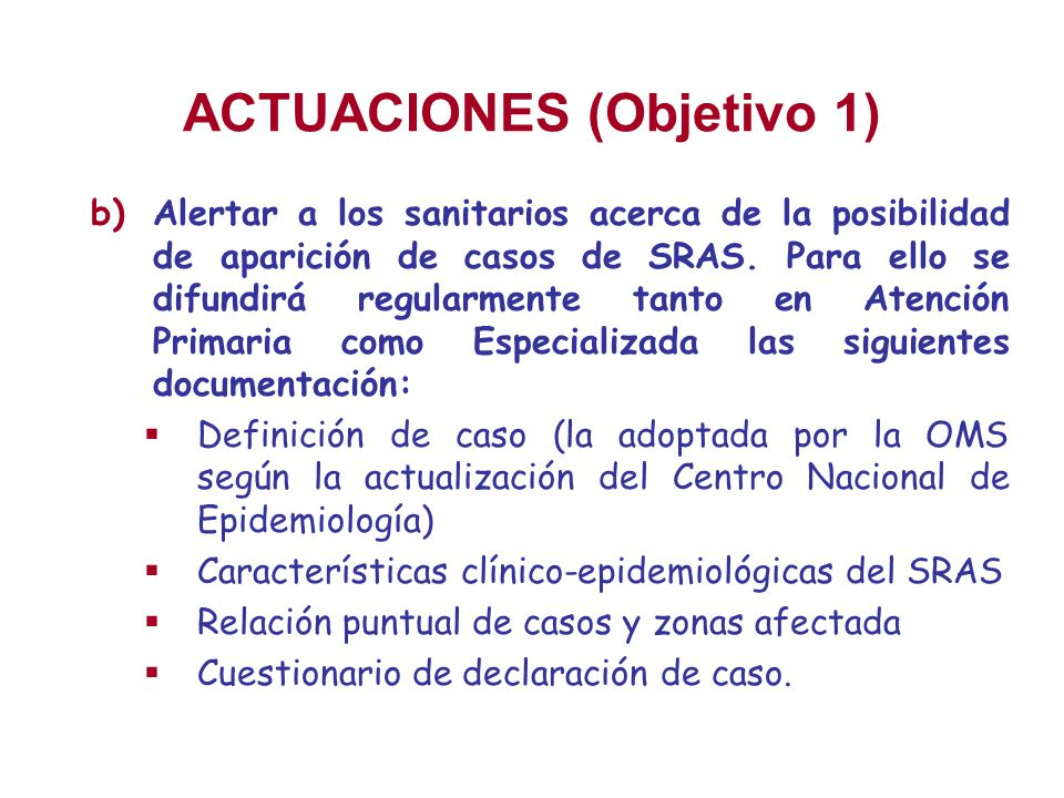 ACTUACIONES (Objetivo 1)