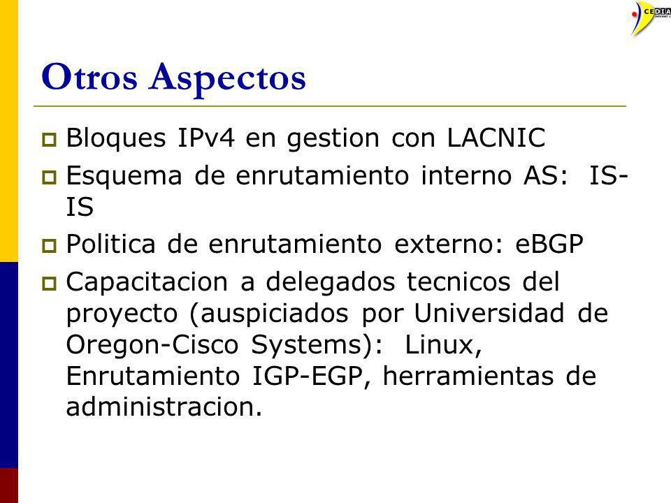 Otros Aspectos Bloques IPv4 en gestion con LACNIC