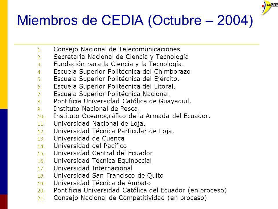 Miembros de CEDIA (Octubre – 2004)