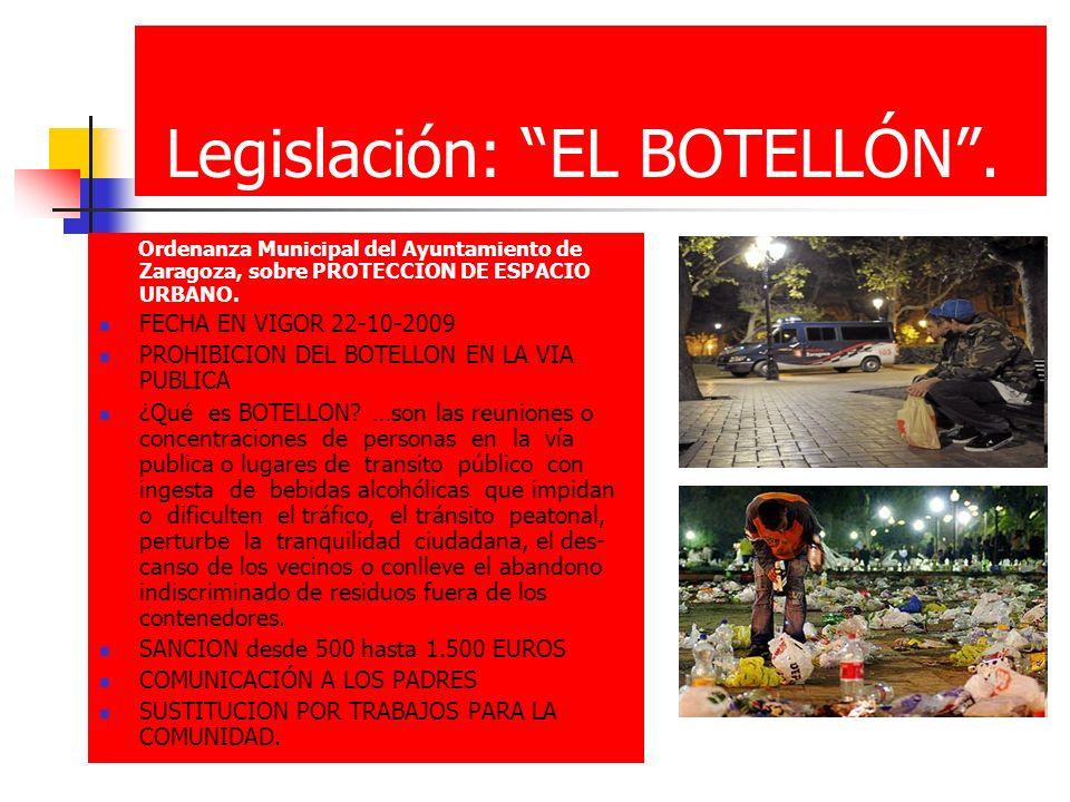 Legislación: EL BOTELLÓN .