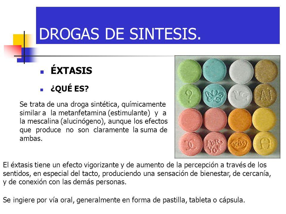 DROGAS DE SINTESIS. ÉXTASIS ¿QUÉ ES