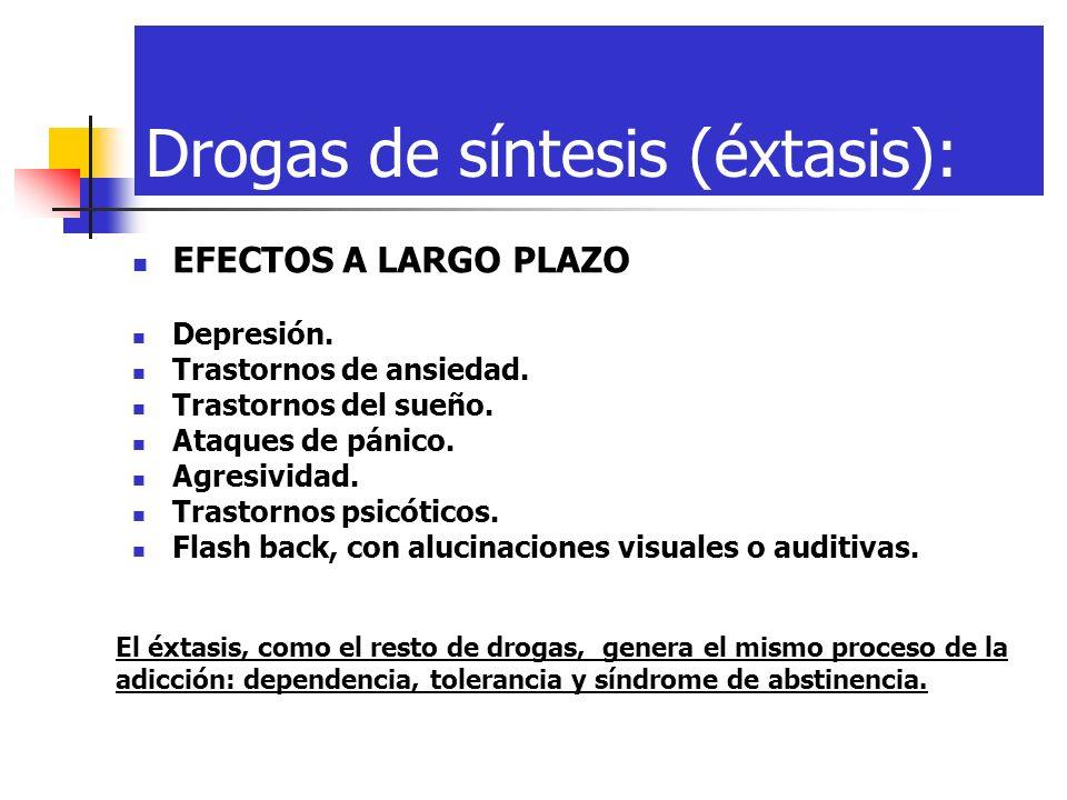 Drogas de síntesis (éxtasis):
