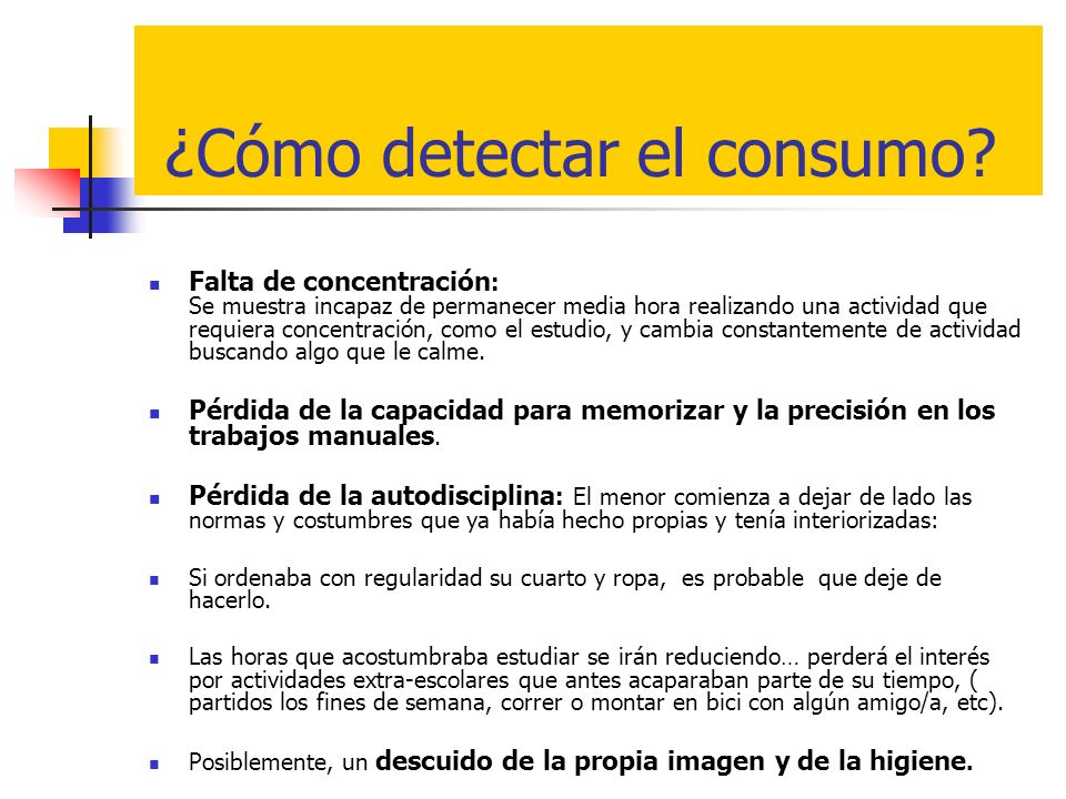 ¿Cómo detectar el consumo