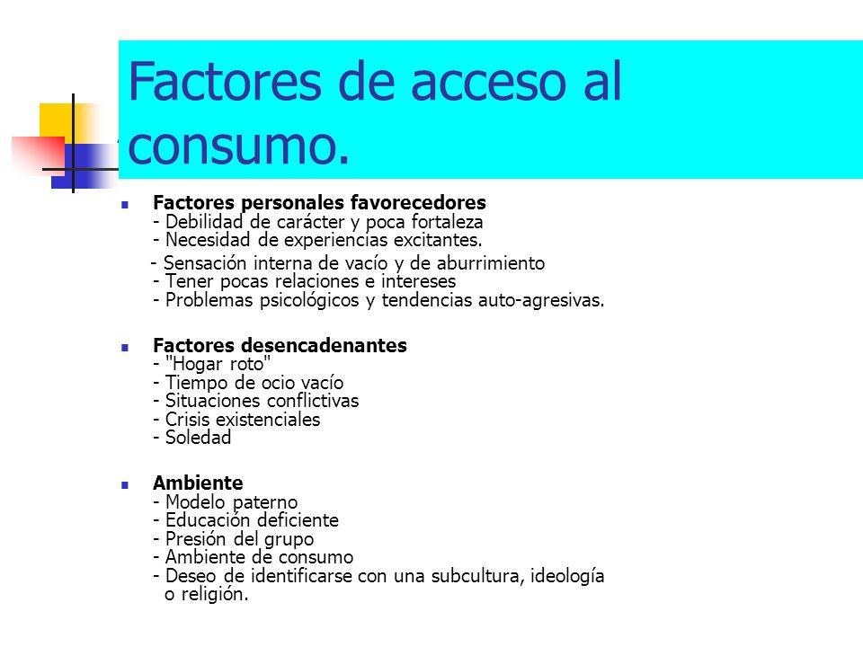 Factores de acceso al consumo.