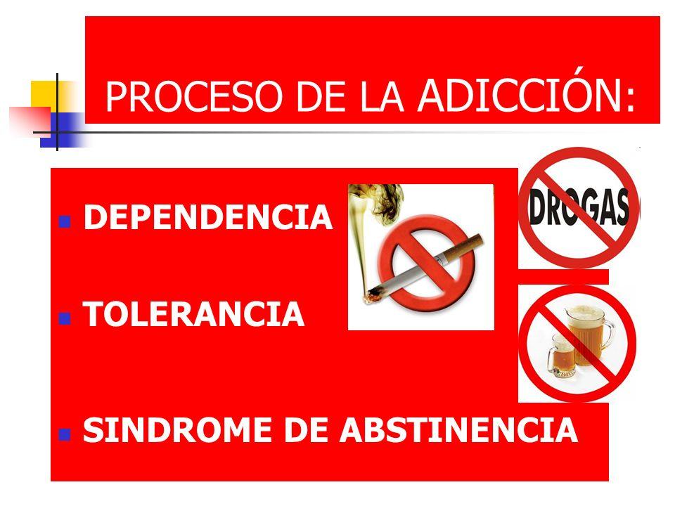 PROCESO DE LA ADICCIÓN: