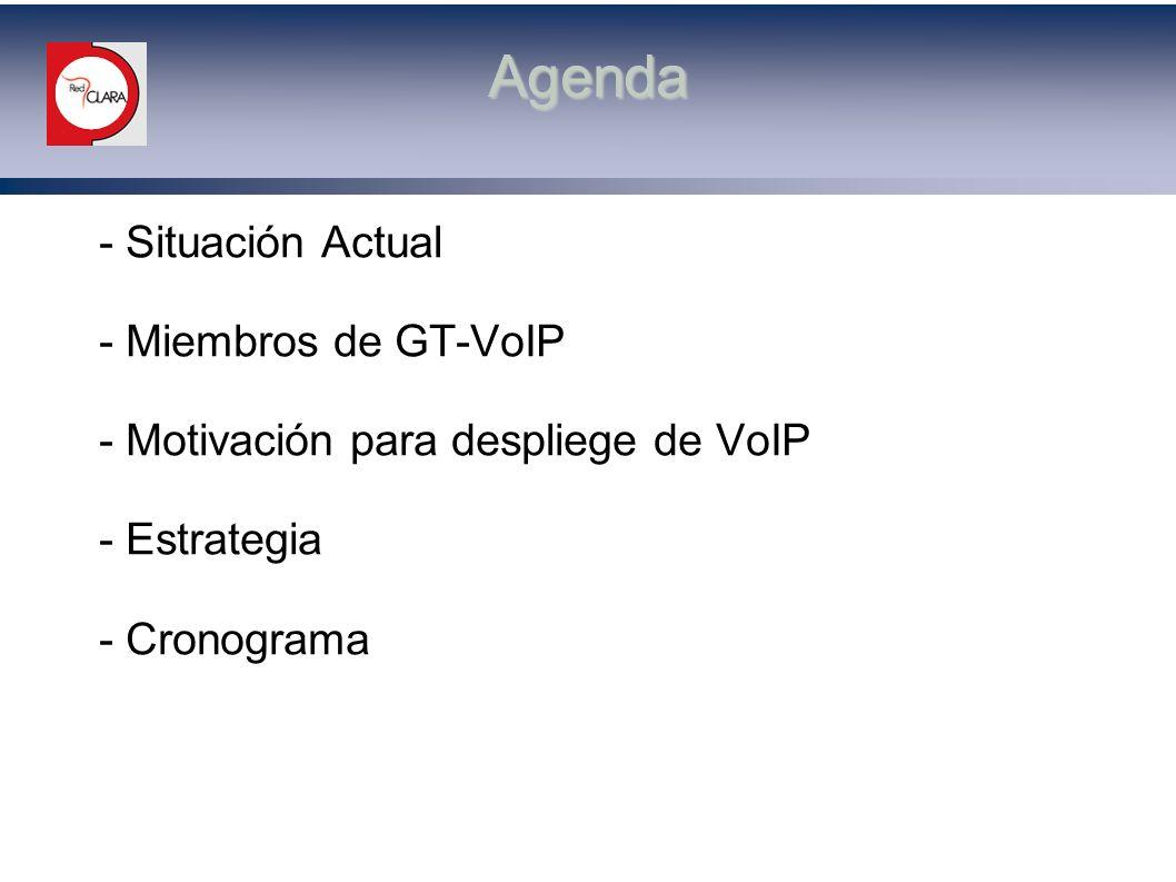 Agenda - Situación Actual - Miembros de GT-VoIP