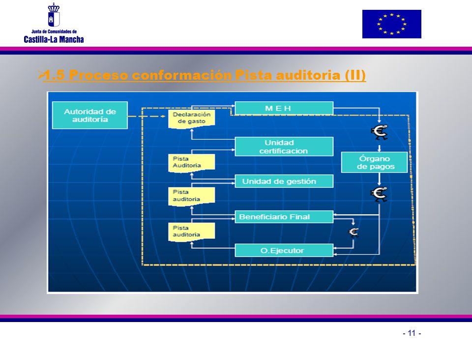 1.5 Proceso conformación Pista auditoria (II)