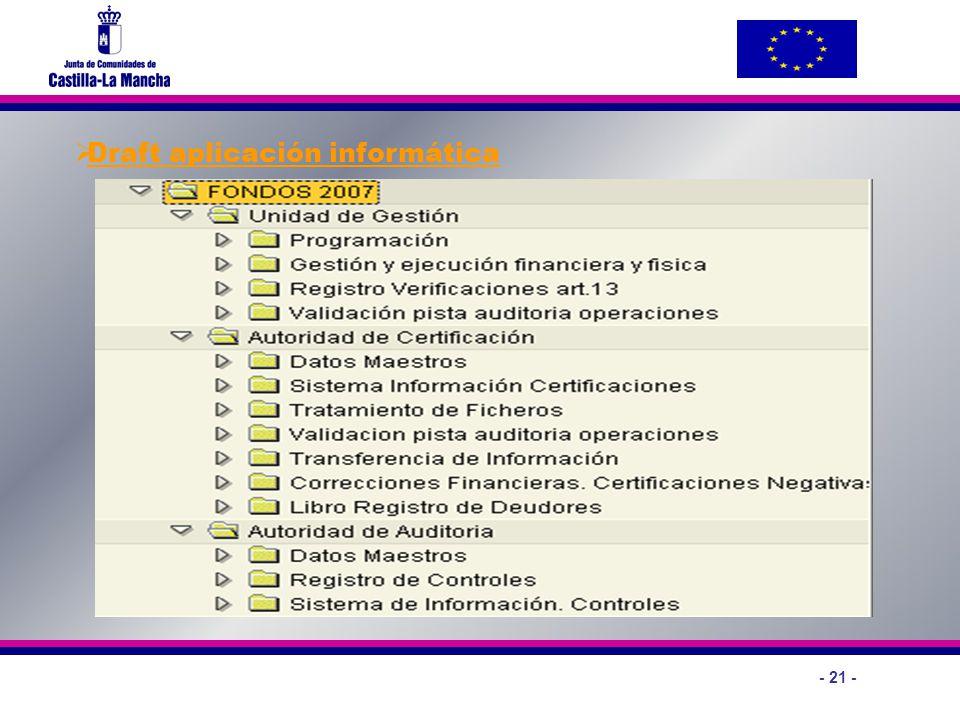 Draft aplicación informática